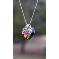 Rainbow Bridge Pet Loss Necklace -Pet Loss Gift