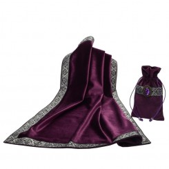 Tarot Cloth and Card Pouch - Purple